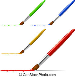 Brushes - Brush painting the line with color variants...