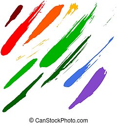 Brushes - Highly detailed illustration as brush smudge