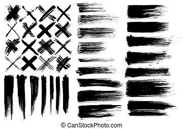 brushes & cross marks