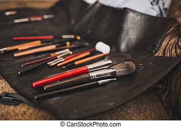 Brushes for a make-up.