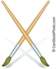 Brushes - Illustration of the brushes for painting