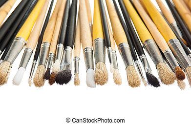 Brushes isolated on white background