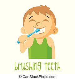Brushing teeth Boy