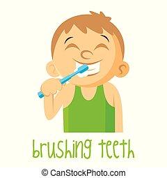 Brushing teeth Boy