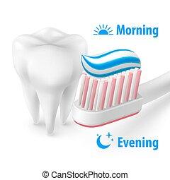 Brushing Teeth Morning and Evening