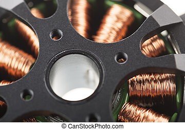 Brushless Motor Close Up. - Close Up of brushless motor.