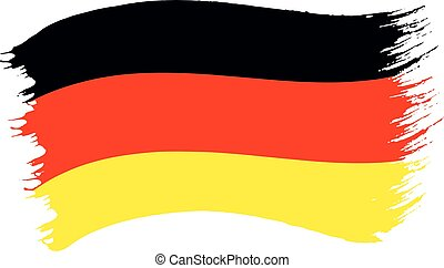 Brushstroke painted flag of Germany
