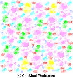 brushstrokes - many colorful brushstrokes abstractes a...