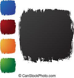 Brushstrokes -  Brushstrokes isolated on a white background.