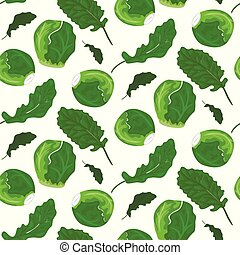 Brussel sprout sticker card in vector format.