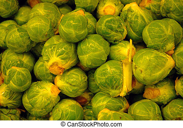 Brussel Sprouts - Pile of brussel sprouts