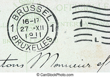 Brussel stamp - Vintage cancellation stamp from Brussels...