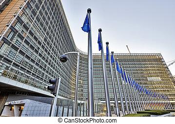 BRUSSELS, BELGIUM - DECEMBER 10: The Berlaymont building anf...