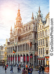 Brussels, Belgium, - Grand Place, February 17, 2014: Photo...