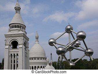 Brussels, Belgium. Mini-Europe park - Mini-Europe is a park ...