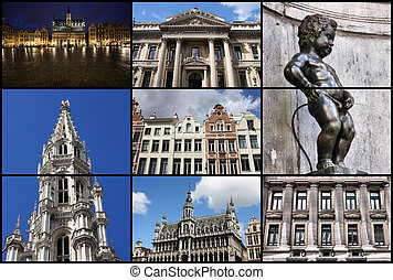 Brussels collage - Brussels, Belgium - collage of photos...