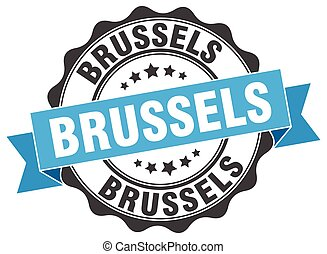Brussels round ribbon seal
