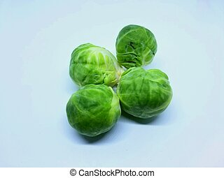 Brussels sprouts on a white isolated background