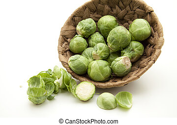 Brussels sprouts with green sheets