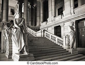 Brussels, Belgium. Monumental architecture landmark -...
