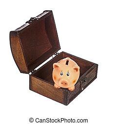 brust, Schweinchen,  bank