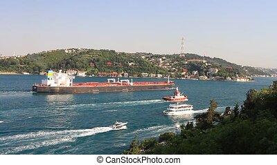 brut, bateau, pétrolier, huile