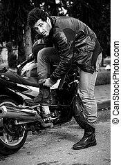 brutal biker man