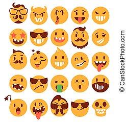 Brutal emoticons. Set
