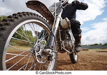 Brutal motorcycle - Focus on wheel of brutal motorcycle ...