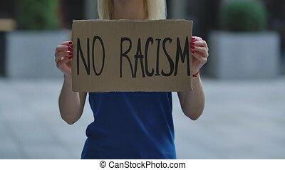 brutality., carton, solidarité, protest., mains, rue, ...