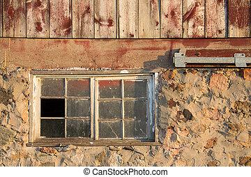 bruten, fönster, -, bakgrund, strukturerad