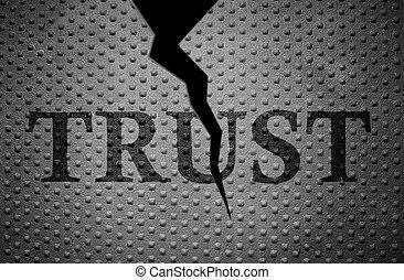 bruten, förtroende, mönster