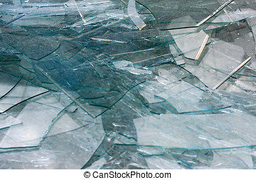 bruten, struktur, glas