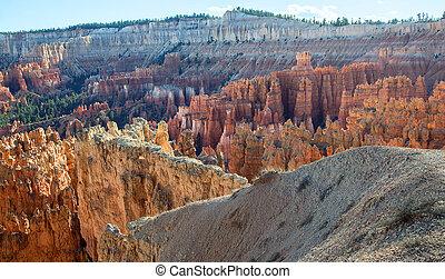 bryce, アメリカ, 驚くばかり, ユタ, 峡谷, park., 形成, 岩, 国民