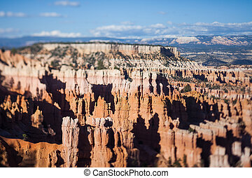 Bryce Canyon, tilt shift effect - View over Bryce Canyon...