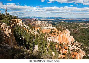bryce national park, usa. panorama from farview point in...