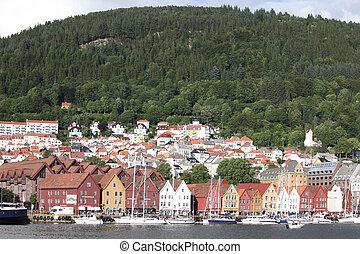 Bryggen, in Bergen.