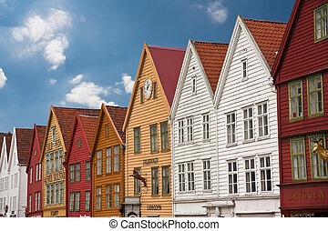Bryggen in Bergen - Picture of the brygge in Bergen, a...