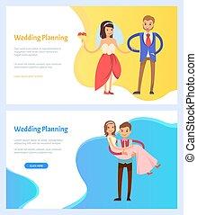 bryllup, brud, website, brudgom, planlægning