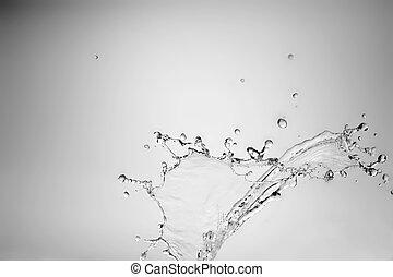 bryzg, piękny, marznąć, woda