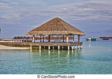 brzeg, bungalow, morze