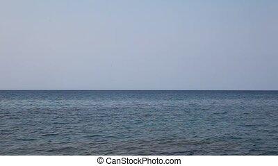 brzeg, morze, fale