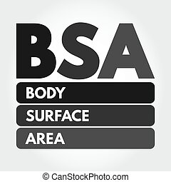 BSA - Body Surface Area acronym, medical concept background