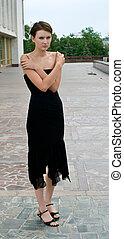 bsad girl in black dress