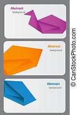 bsckground, abstrakt, geschäftskarte, template.