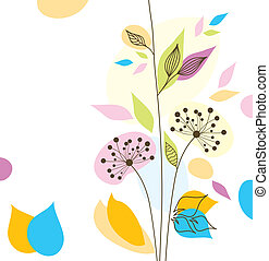?bstract floral background, vector illustration