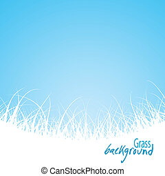 ?bstract grass background, vector illustration