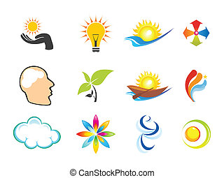 bstract multiple business icons - abstract multiple logo...