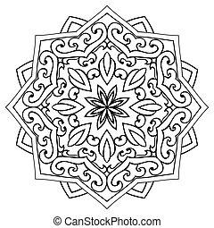 ?bstract ornamental mandala. - Vector abstract mandala on a ...