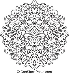 bstract vector round lace design - mandala, decorative...